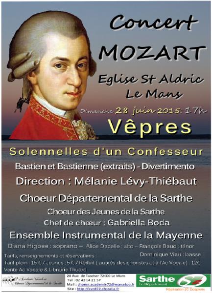 Mozart Vêpres 28/06/2015